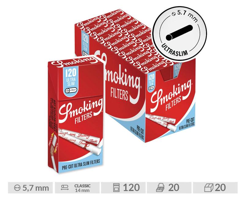 EXP 20 SMOKING PRECUT ULTRA SLIM FILTERS