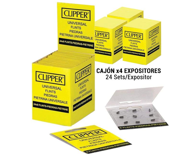 CAJON CLIPPER PIEDRAS (4xEXP 24 BLISTER 9 PIEDRAS)