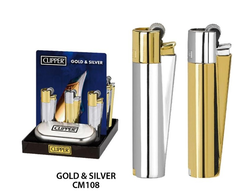 EXP 12 CLIPPER METAL GOLD AND SILVER CM108