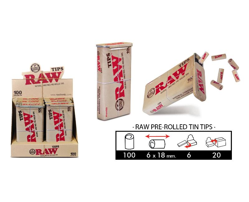 EXP 6 RAW PRE-ROLLED TIN TIPS