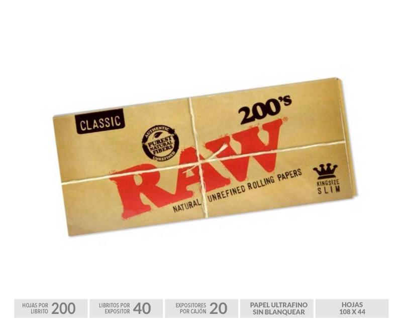 EXP 40 RAW BLOC 200 KING SIZE SLIM