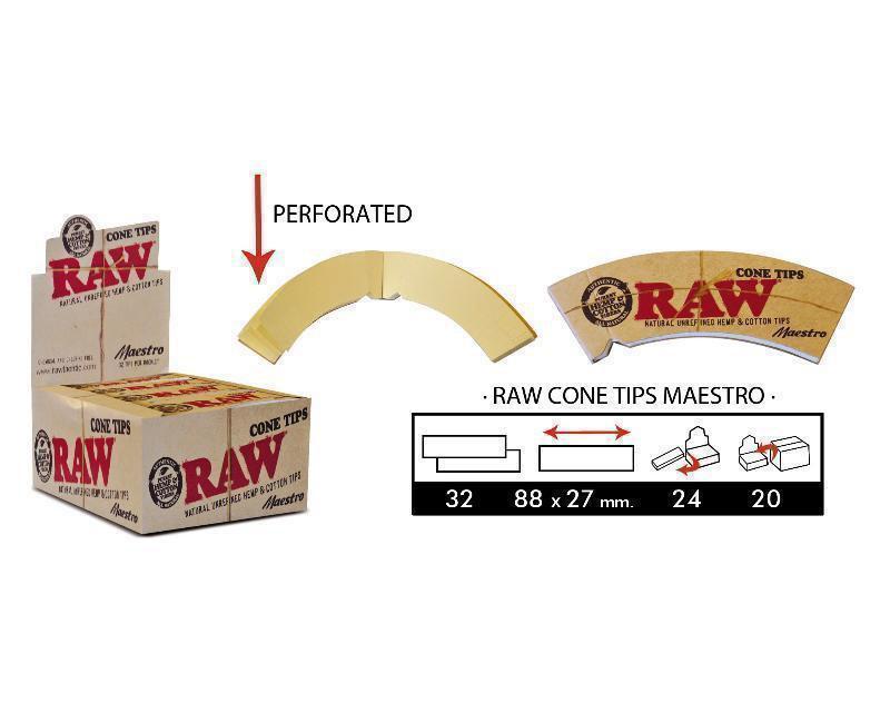 EXP 24 RAW CONE TIPS MAESTRO