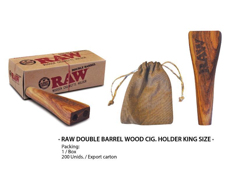 RAW DOUBLE BARREL CIG HOLDER KS WOODEN