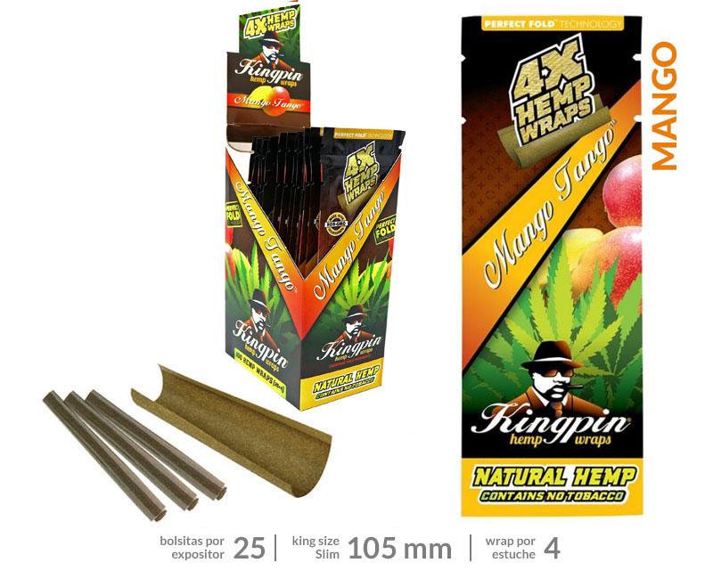 EXP 25 RAW KINGPING HEMP BLUNTS MANGO