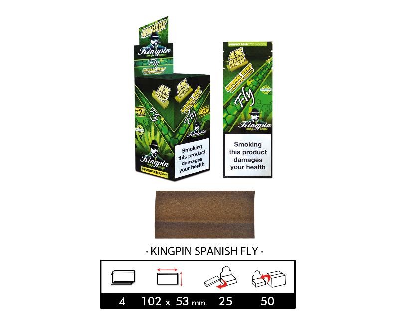 EXP 25 RAW KINGPING HEMP BLUNTS SPANISH FLY