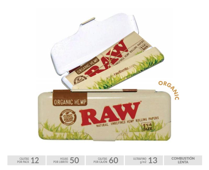 EXP 12 RAW CASE TIN 1 1/4 ORGANIC