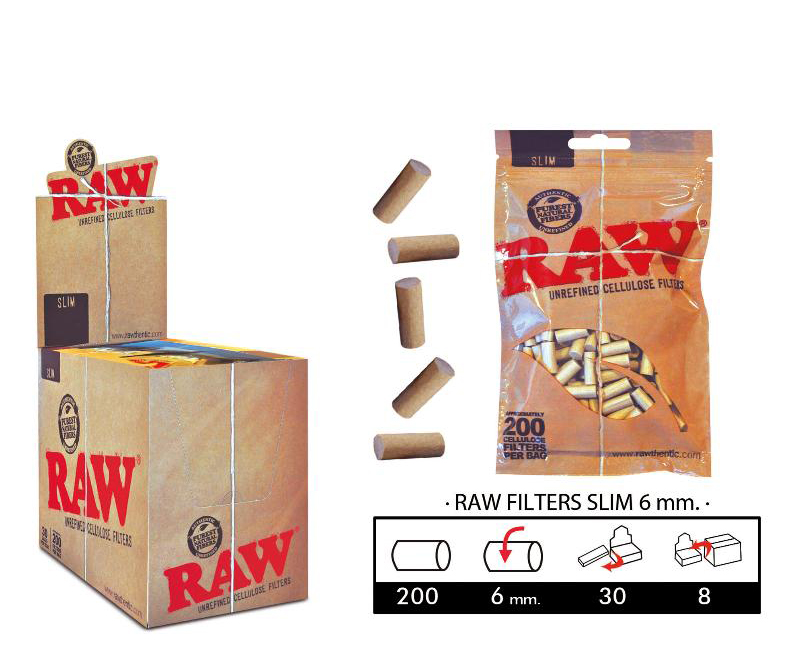 EXP 30 RAW FILTERS  CELULOSA SLIM 6mm/200
