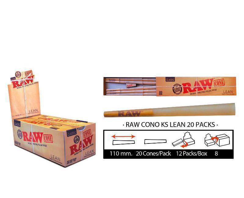 EXP 12 RAW CONO KS LEAN 20 PACKS