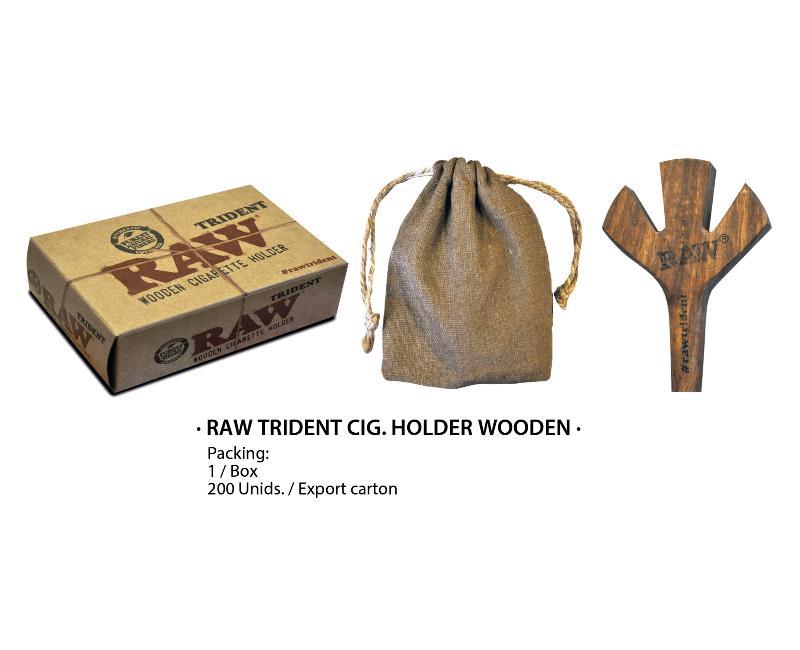RAW TRIDENT DIG HOLDER WOODEN