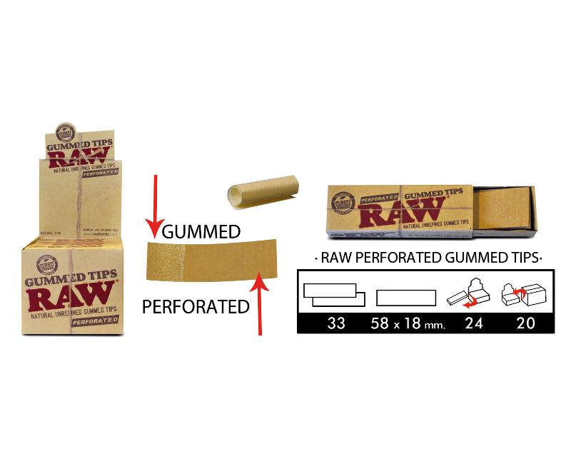 EXP 24 RAW TIPS GUMMED AND PERFORATED (33 HOJAS)