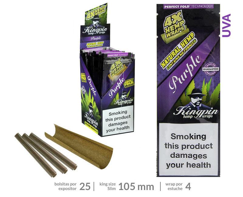 EXP 25 KINGPING HEMP BLUNTS PURPLE