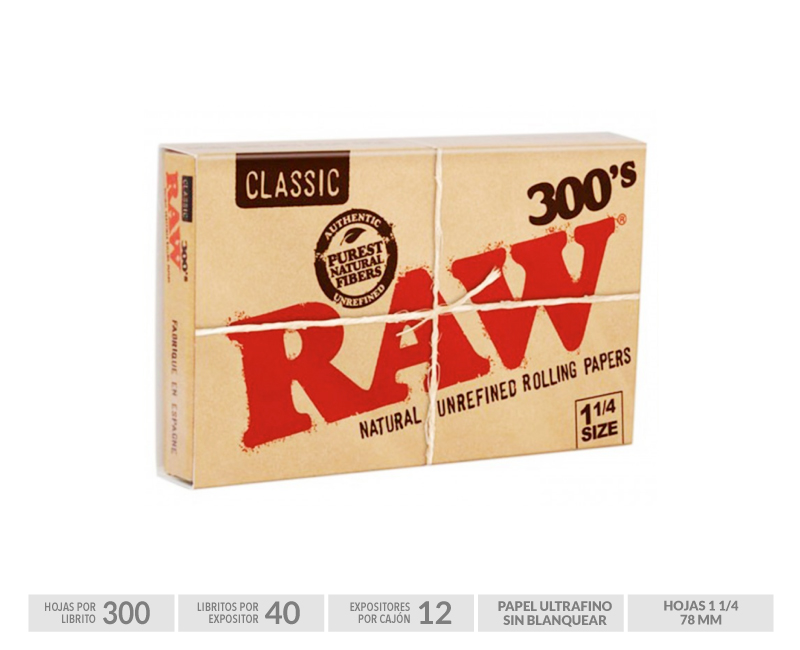 EXP 40 RAW BLOC 300 (FORMATO 1-1/4)