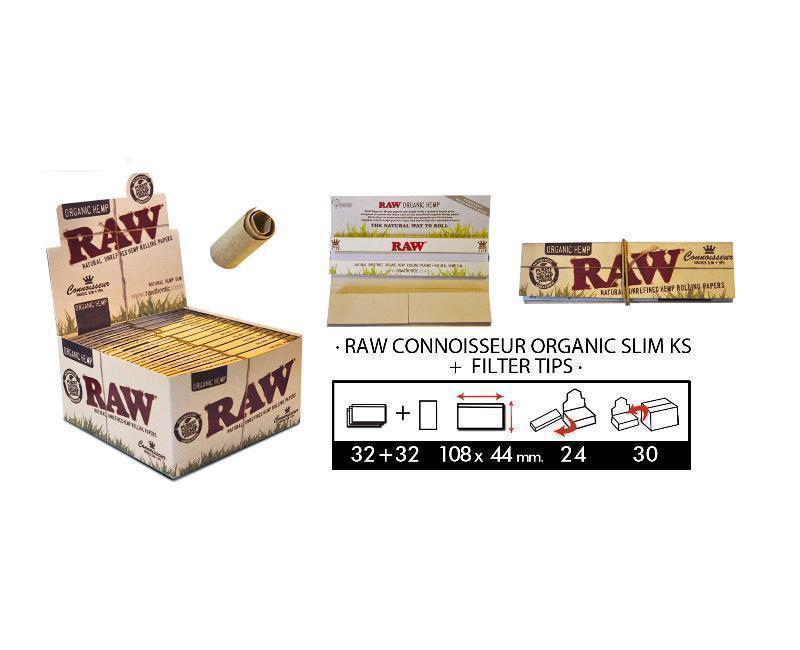 EXP 24 RAW CONNOISSEUR ORGANIC KS SLIM + TIPS