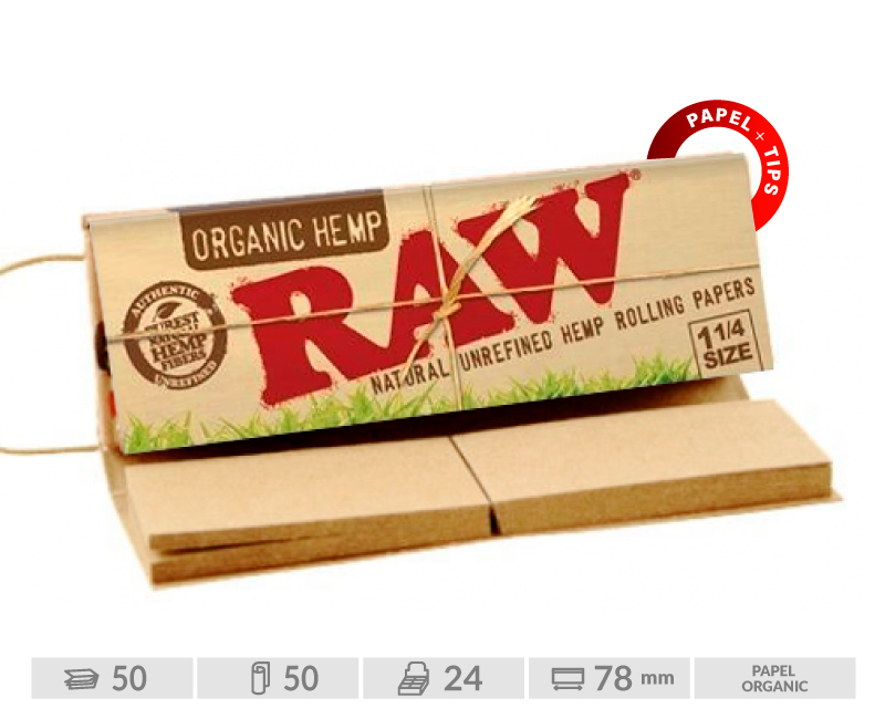 EXP 24 RAW CONNOISSEUR ORGANIC 1 1/4 + TIPS