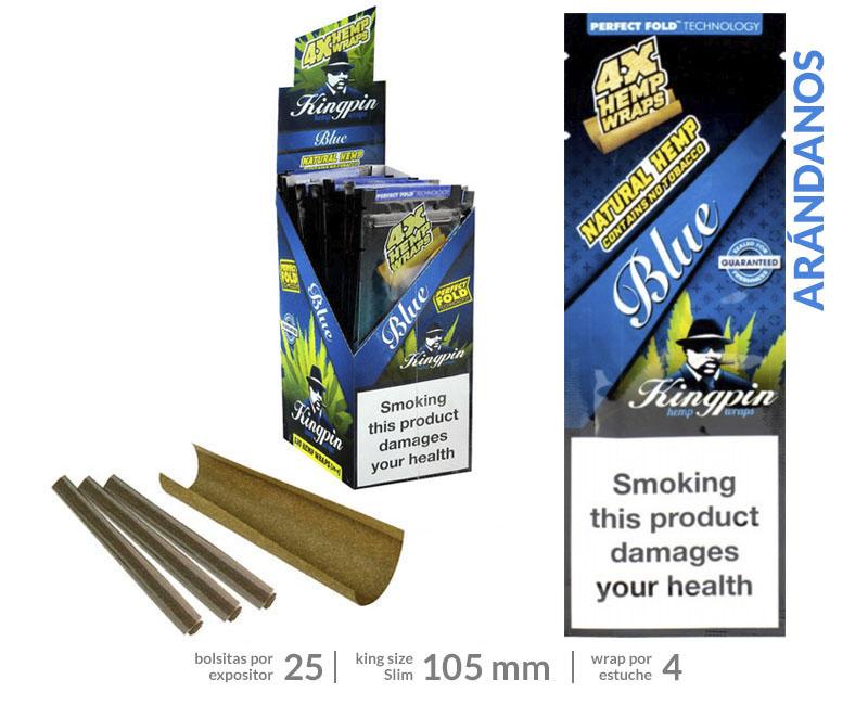 EXP 25 RAW KINGPING HEMP BLUNTS BLUEBERRY