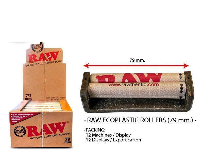 EXP 12 RAW ECOPLASTIC ROLLERS 79mm DISPL. 12 PCS