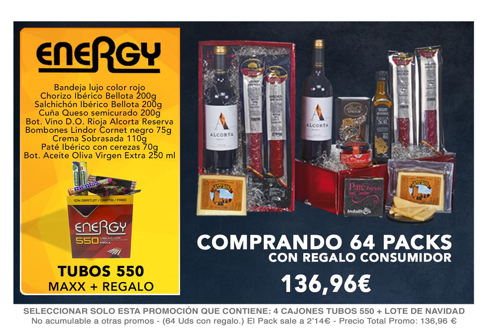 3 CAJONES ENERGY TUBOS 550 MAXX+ LOTE DE NAVIDAD