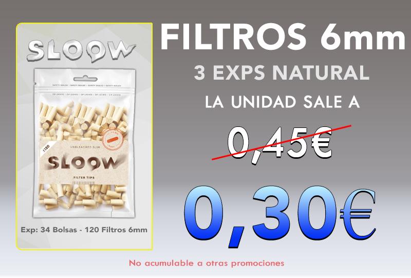 6mm 34 BOLSAS 120 FILTROS NATURAL SLOOW