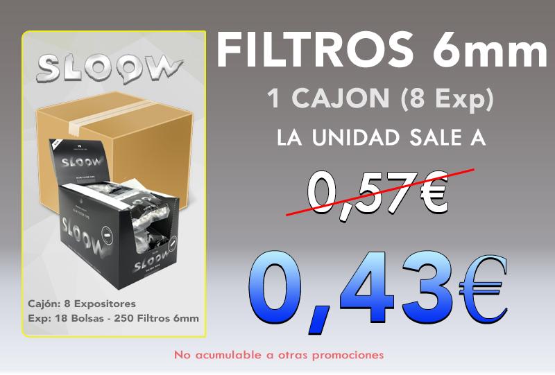 EXP 18 BOLSAS 250 BLACK FILTERS SLIM 6MM SLOOW
