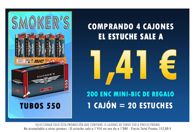 4 CAJONES TUBOS 550 SMOKERSTTI