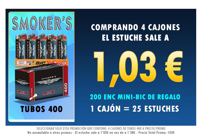 4 CAJONES TUBOS 400 SMOKERSTTI