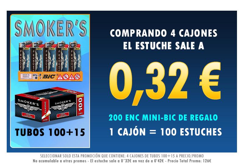 4 CAJONES TUBOS100+15 SMOKERSTTI