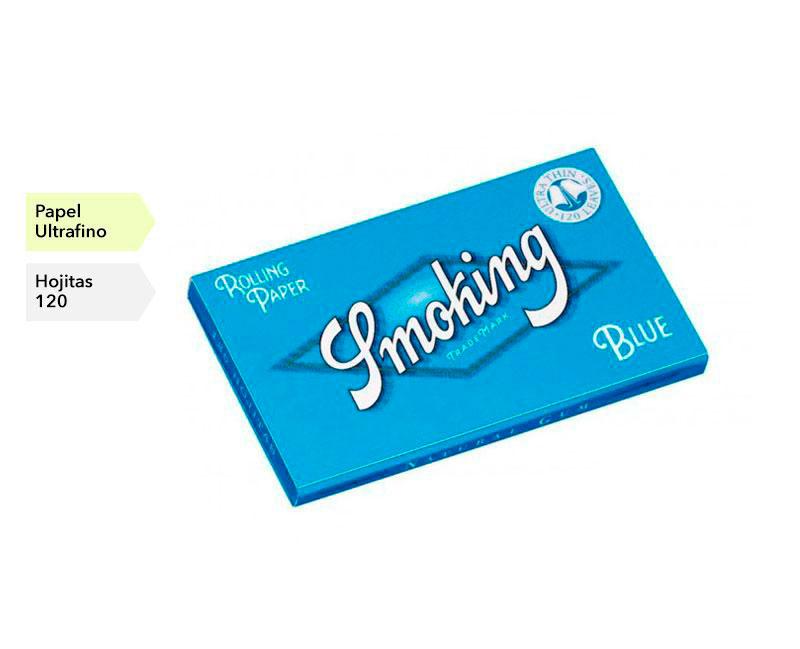 CAJA 25 LIBRITOS SMOKING BLUE DOBLE